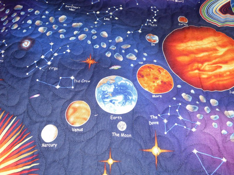 Beaquilter solar system panel quilt for my son for Solar system fabric panel