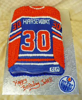 Cake Decorating Classes Central Nj : Tanya s Cakes: Edmonton Oilers Jersey Cake