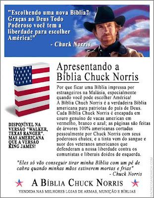 bíblia chuck norris humor evangelismo