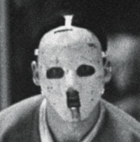 Jacques Plante's original mask, first worn in a game Nov. 1, 1959