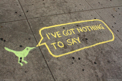 Sidewalk tweets: I've got nothing to say