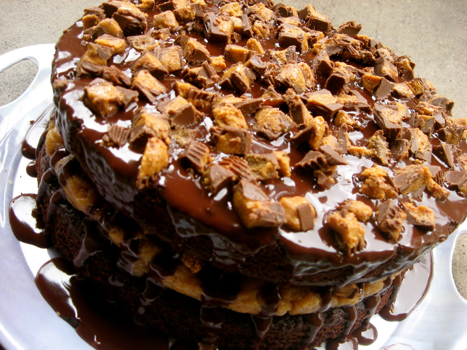 The Crossley's: Chocolate Reese's Mousse Cake
