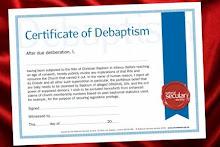 """Certificado de """"desbautizo"""""""