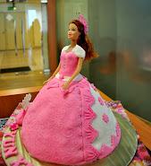 3D Doll fondant cake