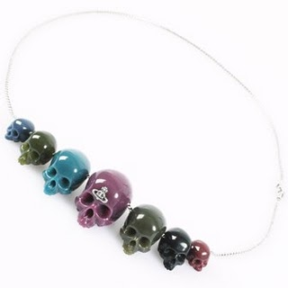 i go in for skull bead necklaces from vivienne westwood