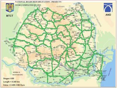 Harta Drumurilor Rutiere Din Romania