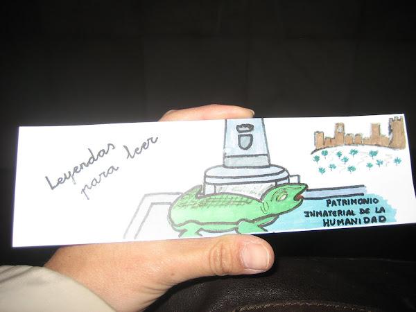 Marcapáginas ganador del concurso: El lagarto de la Malena.