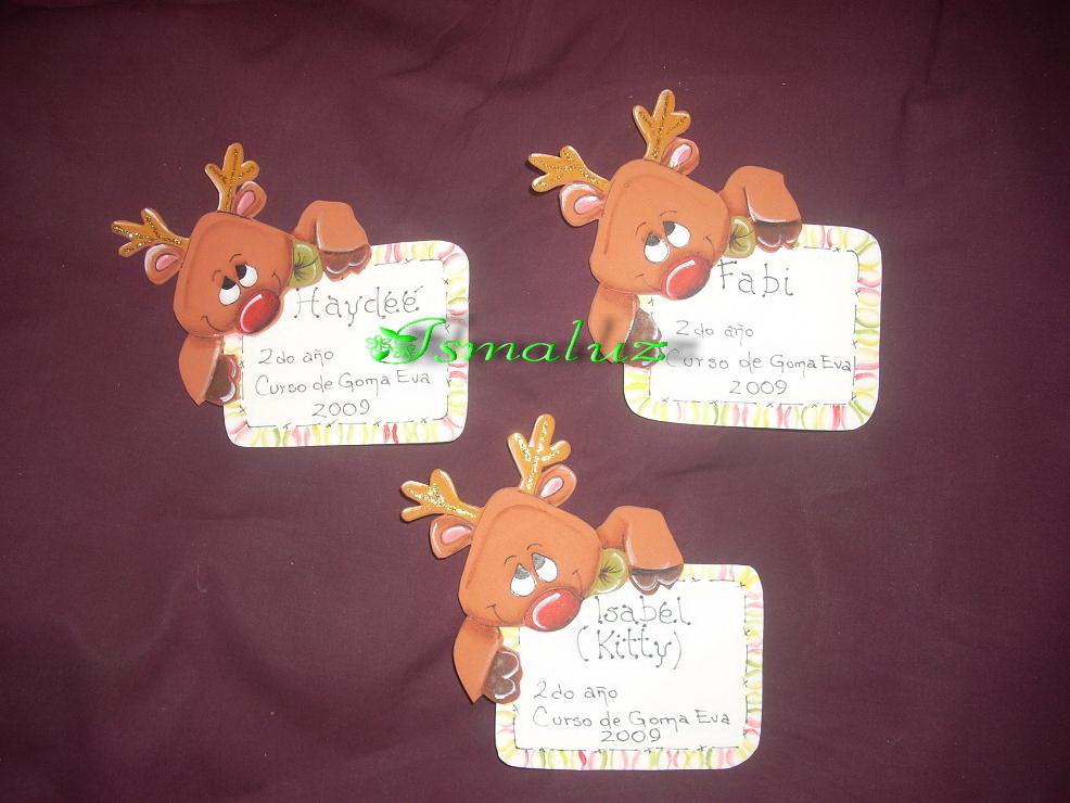 ... unos distintivos para mis alumnas, este año con motivos navideños