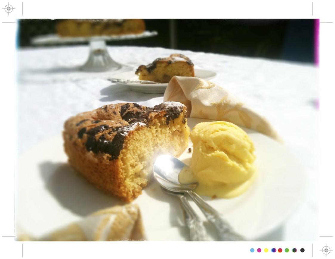 Toast: Fennel Ice Cream & Bittersweet Chocolate Pear Cake
