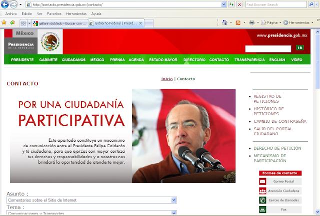 Deficiente el Portal Ciudadano de la Presidencia de la República
