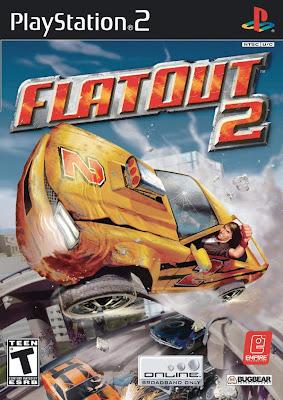 Categoria corrida playstation 2, Capa Download FlatOut (NTSC) (PS2)