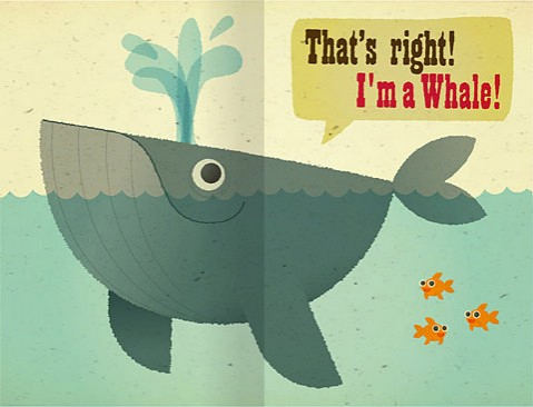 whale cartoon. Shake Whale