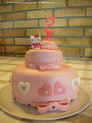 Festa per i 2 anni della mia bimba con torta di compleanno rosa