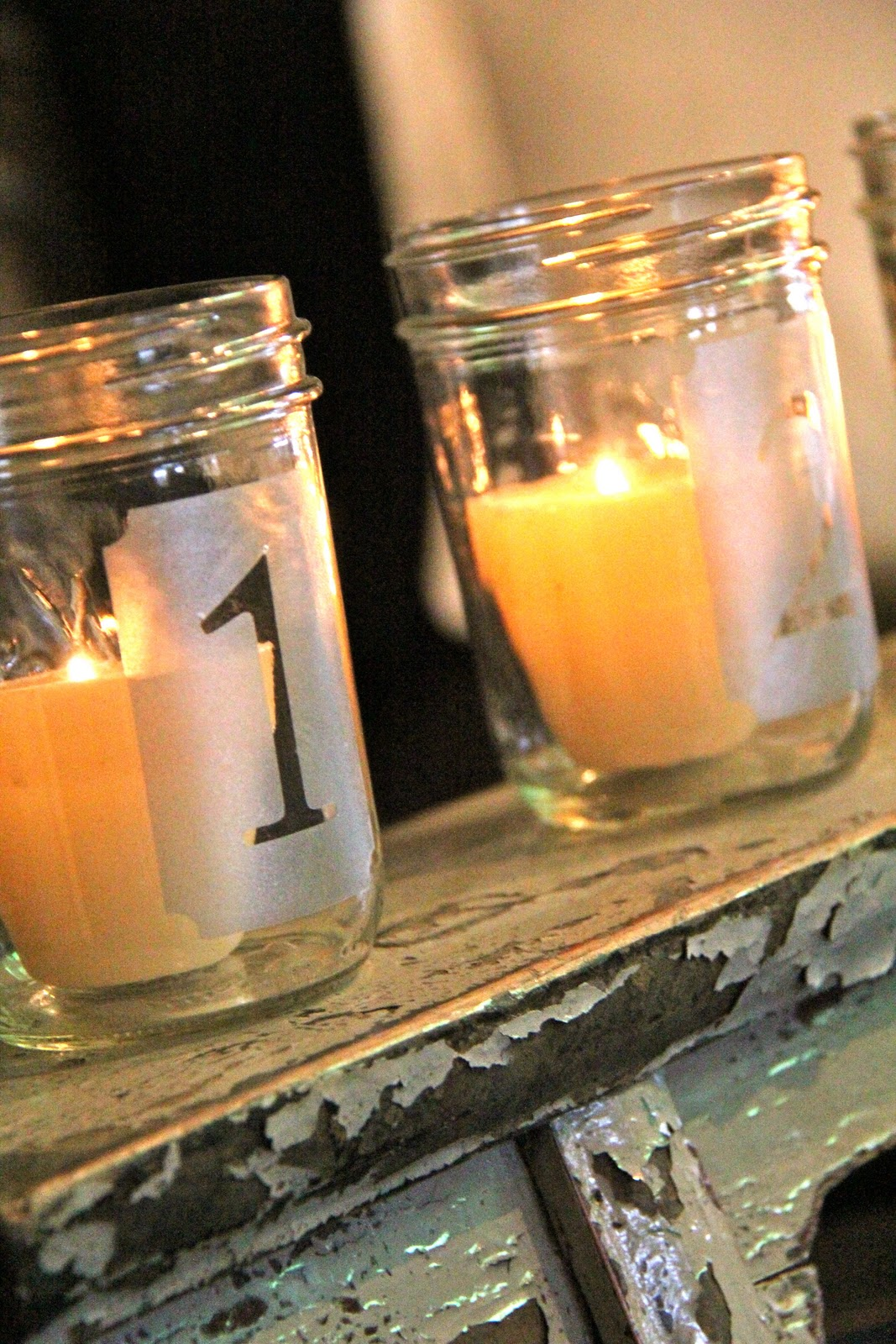 Frosted Mason Candles Shanty 2 Chic