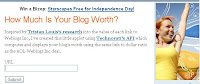 Blog Worth Calculator