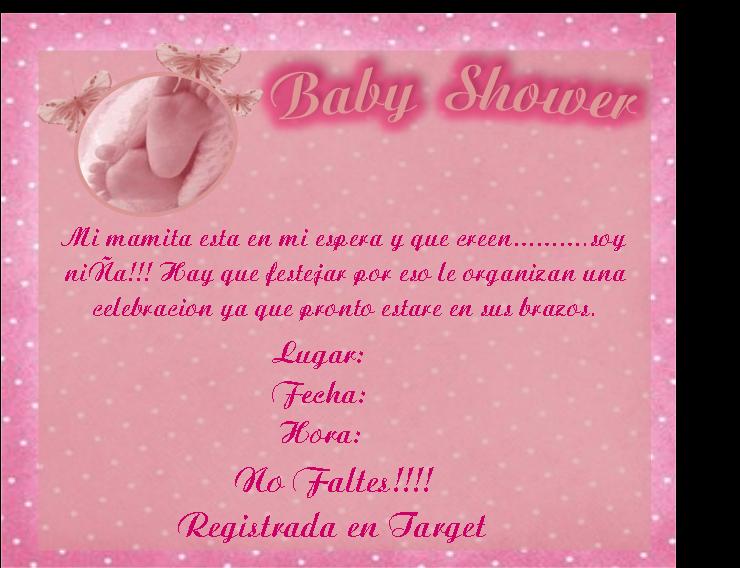 Tarjetas para baby shower niña para imprimir - Imagui