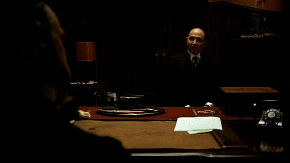 """the godfather analysis Micro- analysis of a film extract: 'the godfather' (editing and sound) scene: """"the baptism"""" from the novel adaptation, created by mario puzo,."""