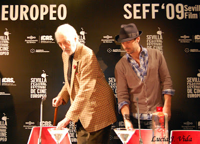 Colin Farrell y Christopher Lee en el Festival de Cine Europeo de Sevilla