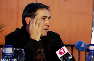 Sergi López en un encuentro con los medios andaluces
