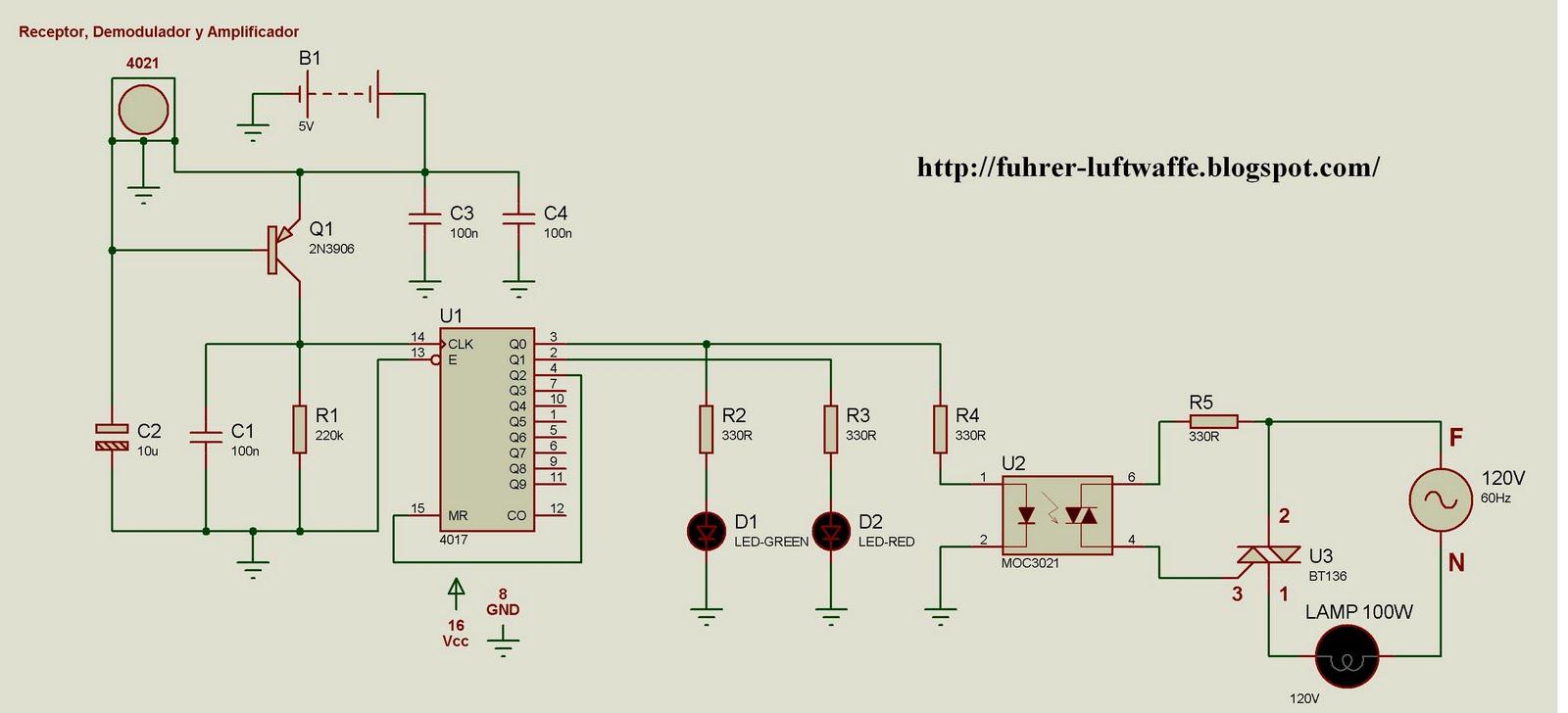 Circuito Optoacoplador : Proyectos electronicos: control remoto con optocoplador