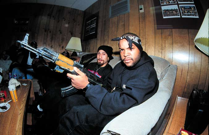 Heres A Photo Of Ice Cube When He Was Full Fledged Gangster Holding An AK 47 For The Camera