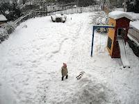 Das soll mal eine Schneehöhle werden