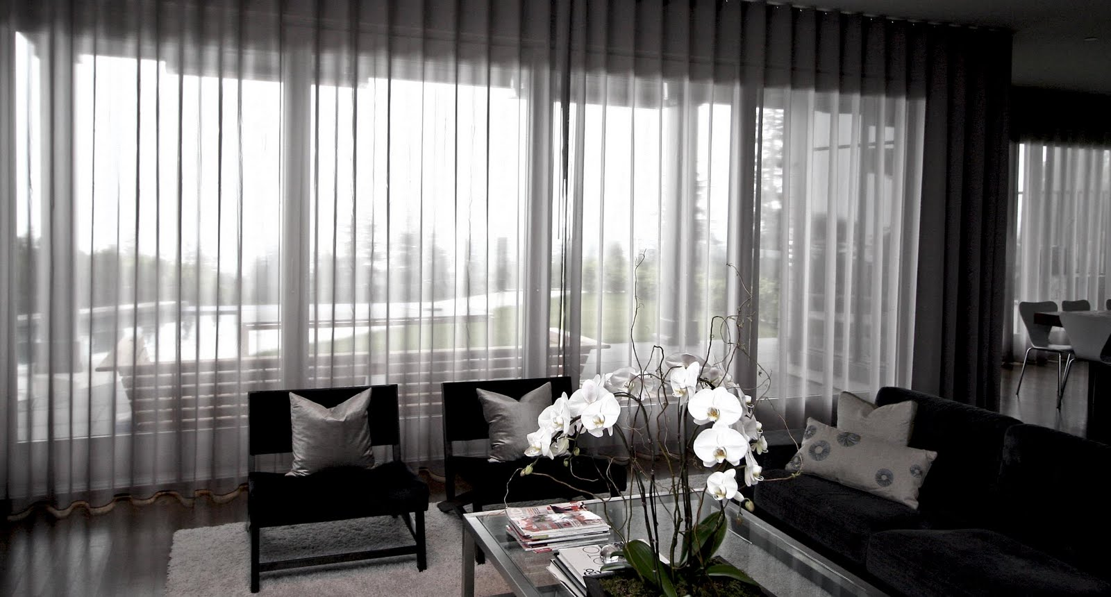 Curtains for living room drapery curtain curtain ideas for living - Soft Grey Sheers Part Two Curtain Otaku