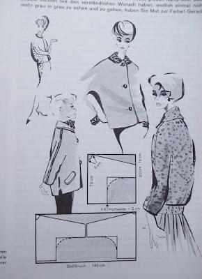 Schnittschema Jacke angeschnittene Aermel