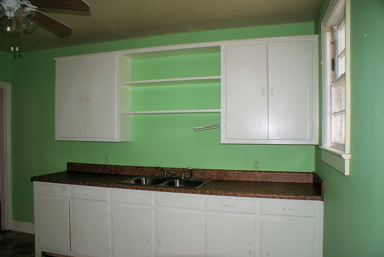 Light teal kitchen cabinets for Teal kitchen cabinets