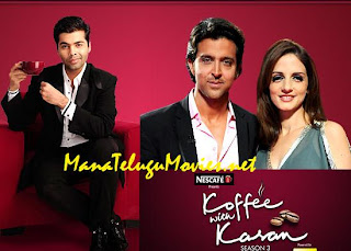 Hrithik Roshan and Suzanne in Koffee with Karan -23rd Jan