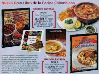 libro de cocina colombiana: