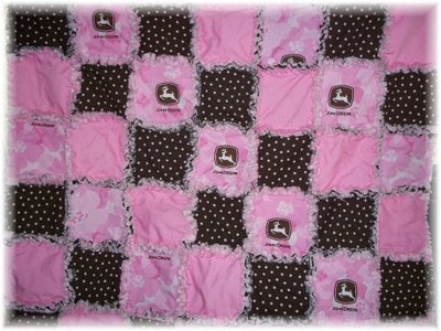 Shopzilla - Pink brown baby quilt Baby Bedding