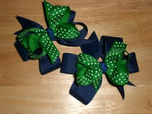 Double Layer Bows with Printed Ribbon