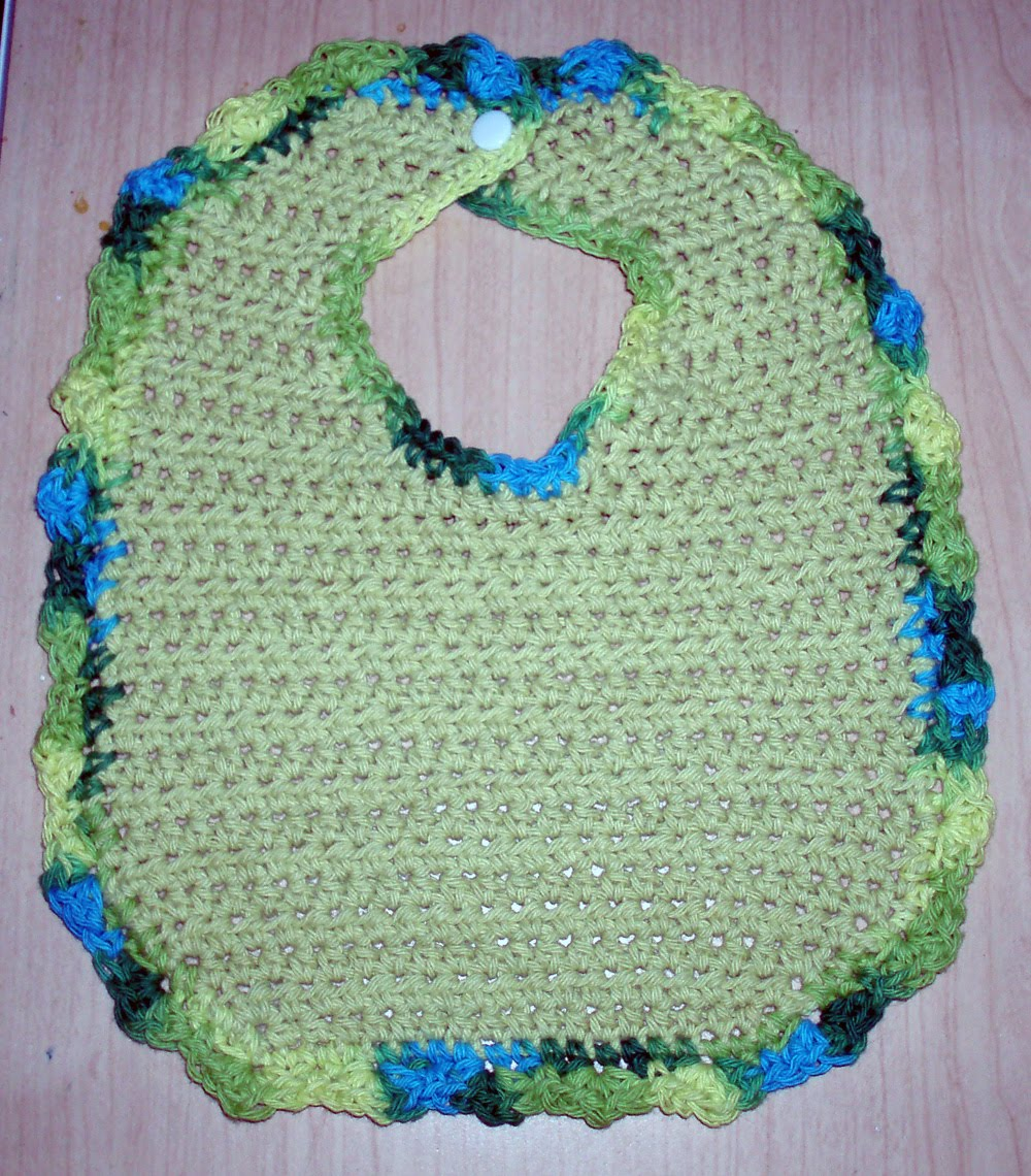 Crochet Cotton Baby Bib Pattern : Destash Baby Cache: Crochet bib
