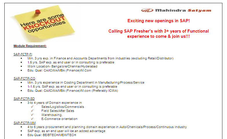 Sap Exclusive Freshers Sap Fi Co Mm Sd With Functional