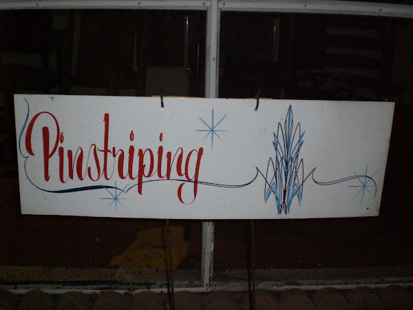 Pinstriping Sign
