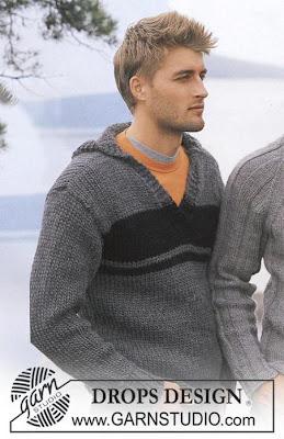 схема вязания мужского пуловера