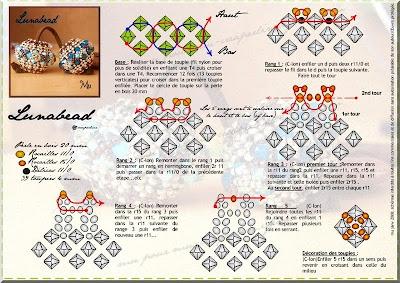 схема плетения бусинки