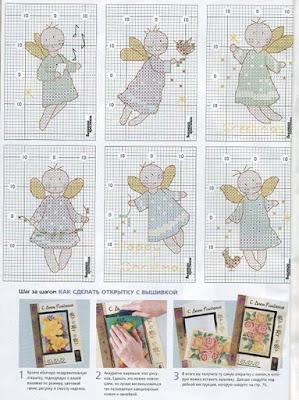 Ангелочки открытки своими руками