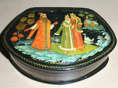 Prince Princess & King Russian Lacquer Box Palekh