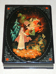 Prince & Princess Russian Lacquer Box Kholui
