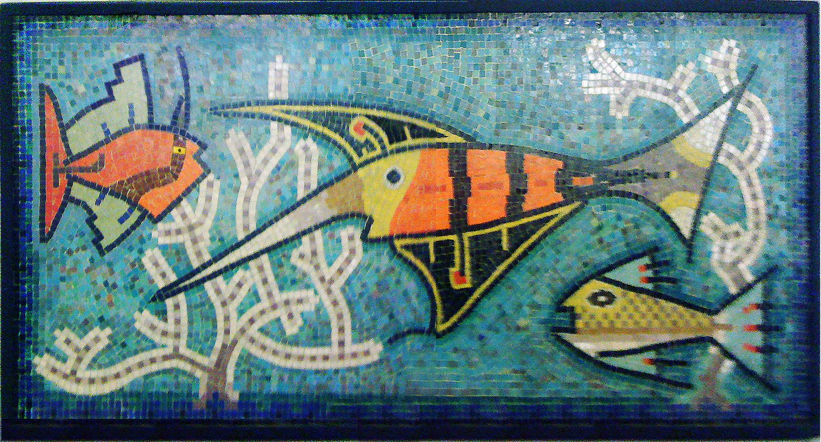 D fusion steinhart aquarium mural from murano for Aquarium mural