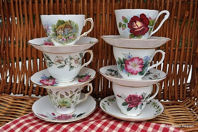teacup and saucer stack