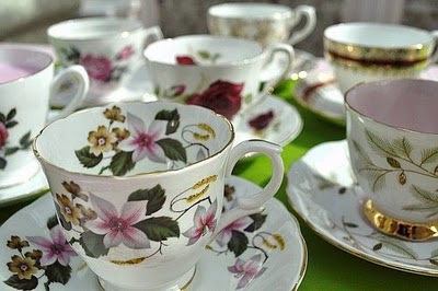 pretty vintage teacups