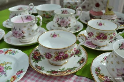 Roses teacups by Royal Albert and Elizabethan