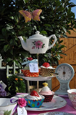 Teapot Topped Cake Stand