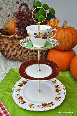 Vintage Mixed China Cake Stand