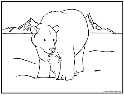 Polar Bear Coloring Pages for Kids