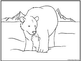 Bear Polar Express Coloring Page