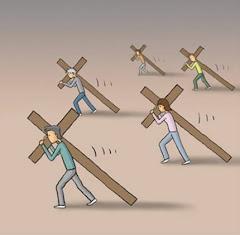 Deus dá o peso da cruz na medida certa para nosso aprendizado.